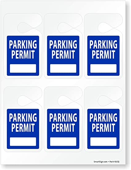 picture regarding Printable Hang Tag identified as : SmartSign Pre-Posted Laser Printable Parking
