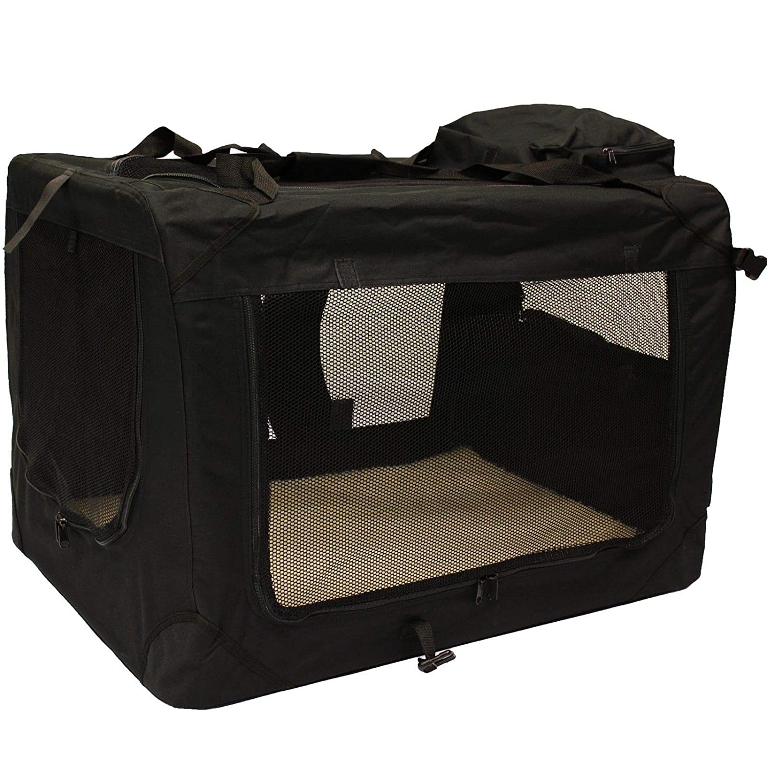 Generic  ic Pet Carrie Carrier Crate bric Pet Car with Fleece with Fle Food Bag Large Mat and Food Bag Lightweight Fabric Pet t and Foo Mat and
