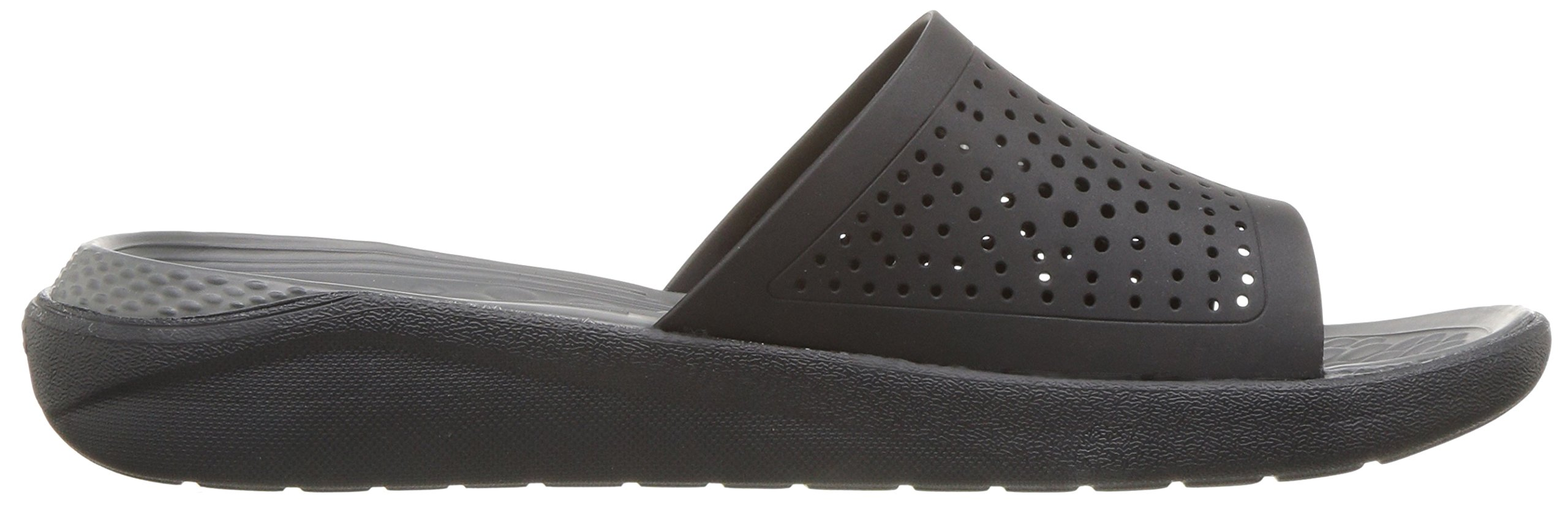 Crocs Unisex-Adults Literide Slide Sandal, Black/Slate Grey, 8 US Men/10 US Women by Crocs (Image #7)