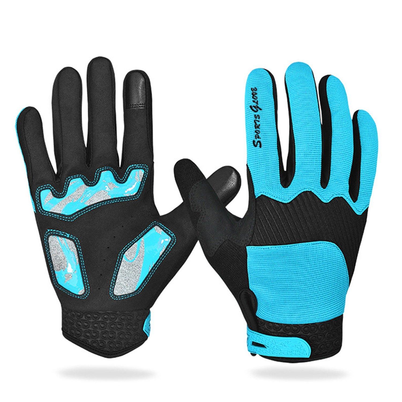 2017 autunno Outdoor equitazione caldo anti-skid equitazione guanti touch screen lungo dito più velluto guanto ( Color : Dark blue , Dimensione : M ) ZYPMM