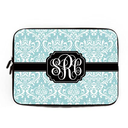 6ca379530ae6 Amazon.com: Personalized Floral Damask Pattern Computer Cover Sleeve ...