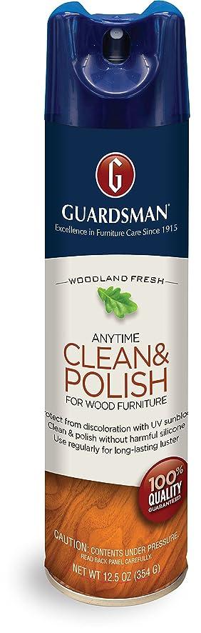 Guardsman Clean U0026 Polish For Wood Furniture   Woodland Fresh   12.5 Oz    Silicone Free