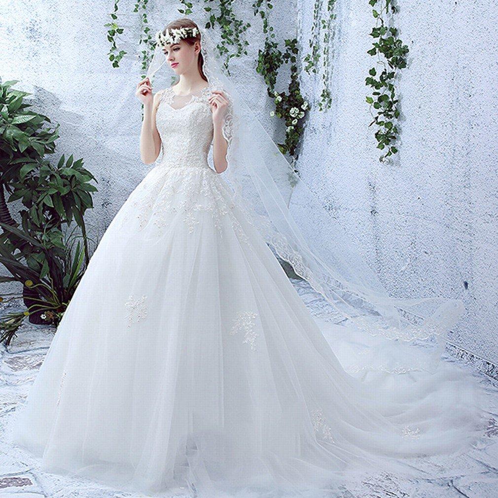 QP de Encaje Fino Hombros Vestidos de Novia Vestido de Novia Vestido de Novia,UN,XXL: Amazon.es: Hogar