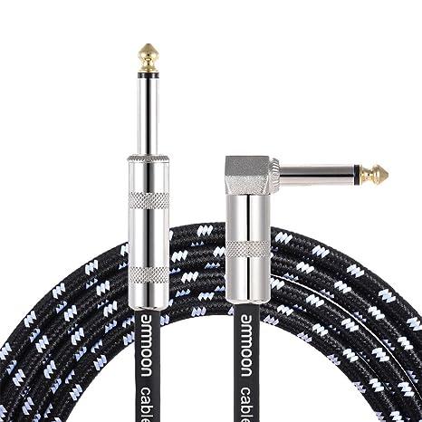 ammoon Cable del Instrumento Musical 6 Metros / 20 Pies Guitarra Eléctrica Bajo Cuerda del 1