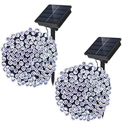 solar powered string lights solarmks solar lights outdoor 72ft 8 modes 200 led christmas lights