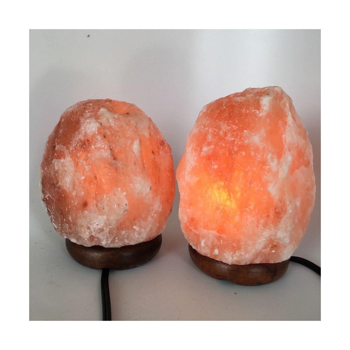 2x Himalaya Natural Handcraft Rough Raw Crystal Salt Lamp,6.25''-7.25''Tall, HL68