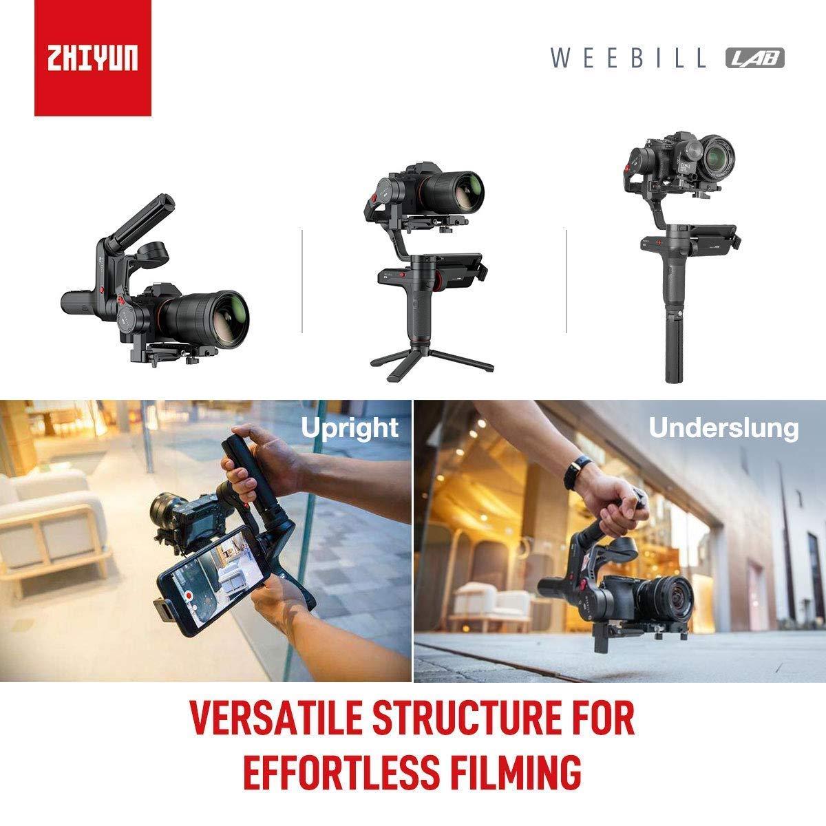 Zhiyun WEEBILL LAB Stabilizzatore cardanico palmare Carico utile massimo 3KG con struttura versatile Trasmissione immagini wireless e ViaTouch compatibili per fotocamera Canon Canon Mirrorless