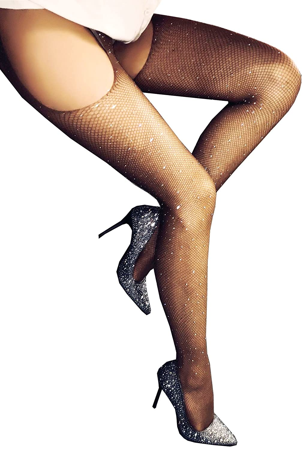 c92c13e3441 Feature  Sexy fishnet stockings with rhinestones for women   ladies