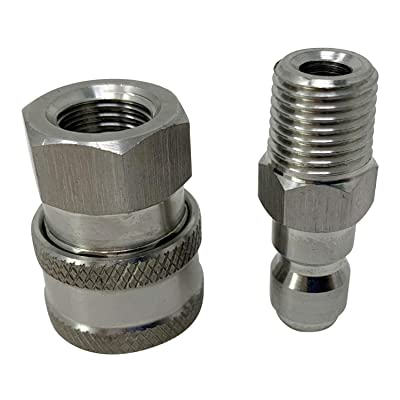 """STAINLESS STEEL PRESSURE WASHER WAND GUN TIP QUICK COUPLING 1//4/"""" MALE PIPE"""