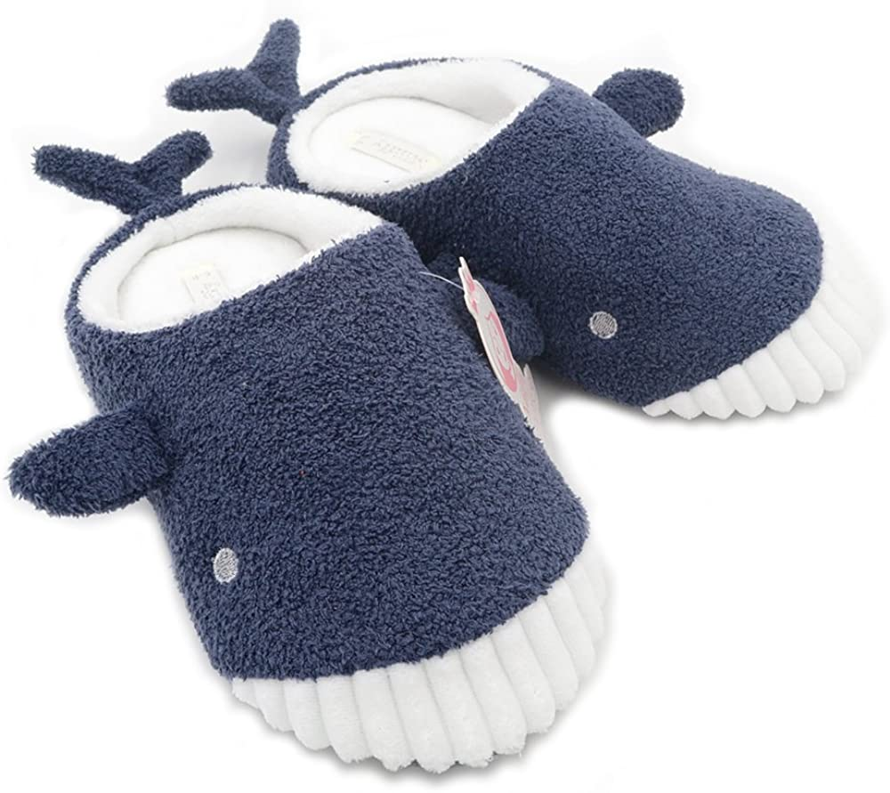 Millffy Cute Soft Comfy Plush Seal Slippers sea Lion Animal Shark Whale Slipper Indoor Crocodile Home Bedroom Shoes for Adult