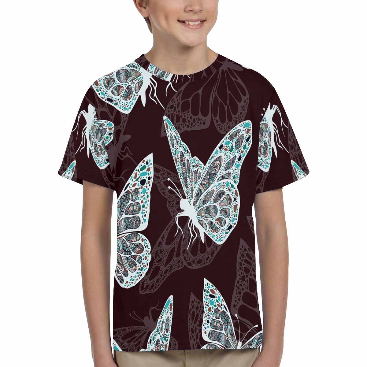 Hippie XS-XL INTERESTPRINT Youth T-Shirts Butterflies in Style Boho