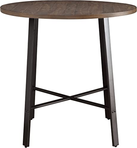 Homelegance Chevre 36 Round Industrial Style Counter Height Table