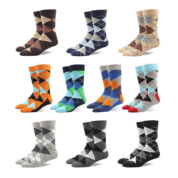 Calcetines De Algodón Calientes De Rayas Y Moda Para Hombre?Multicolor, EU 44.5-49/UK 10.5-14, 10pares?color aleatorio: Amazon.es: Ropa y accesorios
