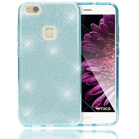 f286b217ccc4 NALIA Coque Silicone pour Huawei P10 Lite, Ultra-Fine Glitter Housse  Protection Case Paillettes