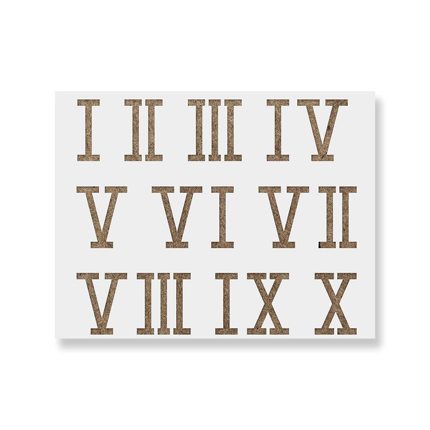 photograph about Roman Numeral Stencil Printable identify Roman Numerals Stencil Template - Reusable Stencil with A number of Measurements Offered