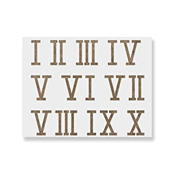photograph about Roman Numeral Stencil Printable named Roman Numerals Stencil Template - Reusable Stencil with Many Dimensions Out there