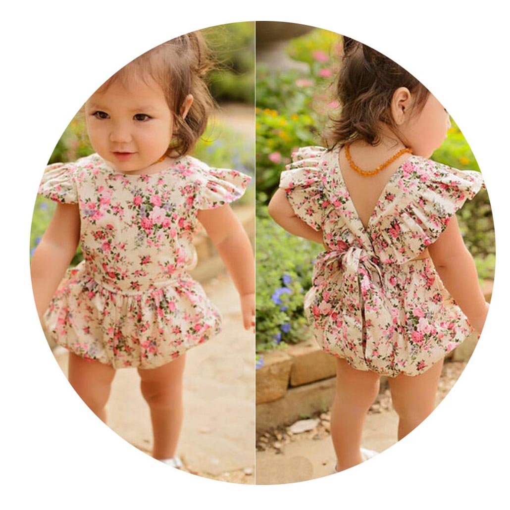 CARMELA HILL WILLIAMS Baby Girls Floral Romper Jumpsuit Outfit Playsuit Clothes Baby Rompers Baby Girl Clothes