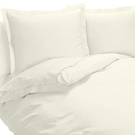 650 Thread Count Egyptian Cotton Blend   Wrinkle Free Duvet Cover Set,  Solid Pattern,