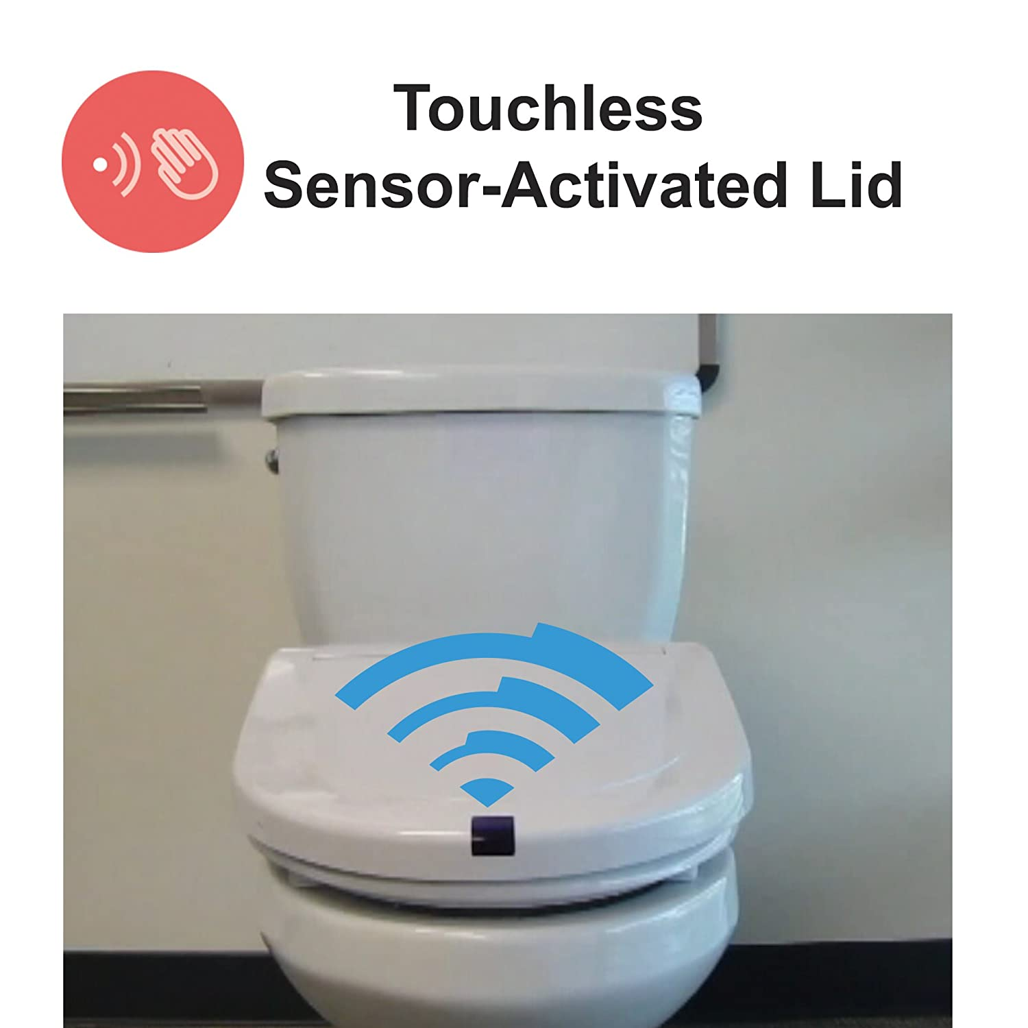 Fabulous Itouchless Touch Free Sensor Controlled Automatic Toilet Seat Round Model Off White Lamtechconsult Wood Chair Design Ideas Lamtechconsultcom