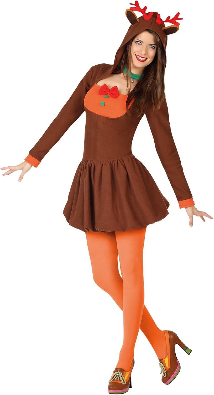 Atosa-26934 Disfraz Reno Mujer Adulto-Talla, Color marrón, XL ...