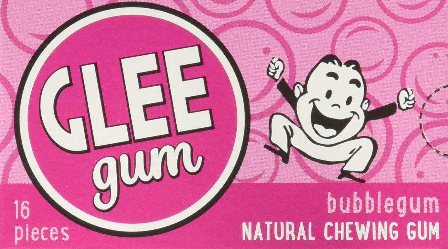 Glee Gum Bubblegum, 16-Piece Packages (Pack of 12) (2 Pack of 12)