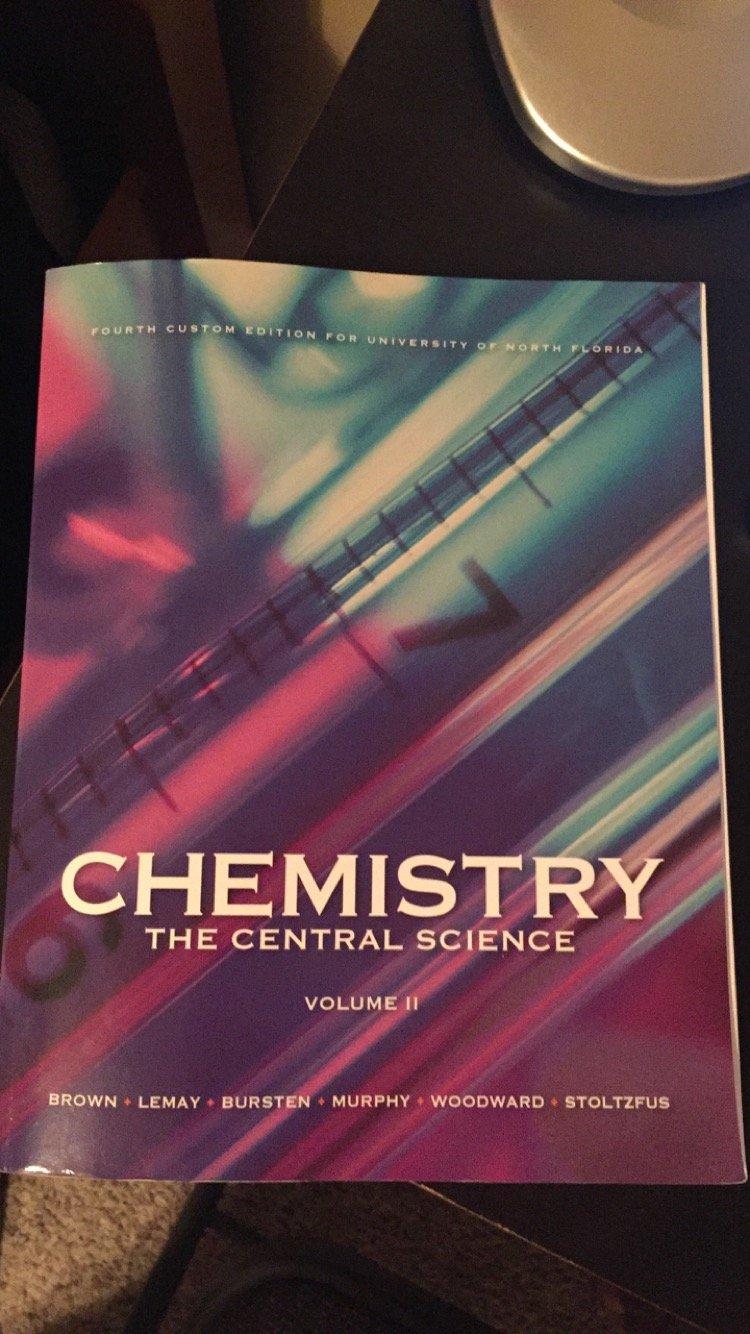 Chemistry The Central Science Volume II Fourth Custom Edition for University of North Florida PDF