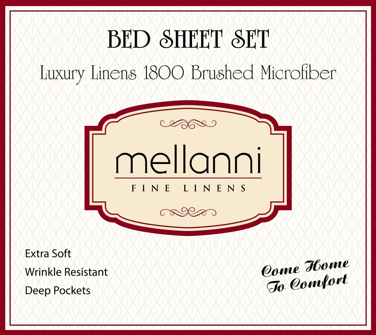 Mellanni Striped Bed Sheet Set - Brushed Microfiber 1800 Bedding - Wrinkle, Fade, Stain Resistant - Hypoallergenic - 4 Piece (Queen, Gray / Silver)
