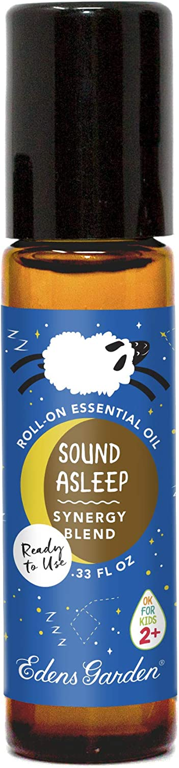 """Edens Garden Sound Asleep""""OK For Kids"""" Essential Oil Synergy Blend, 100% Pure Therapeutic Grade (Child Safe 2+, Pre-Diluted & Ready To Use- Anxiety & Sleep), 10 ml Roll-On"""