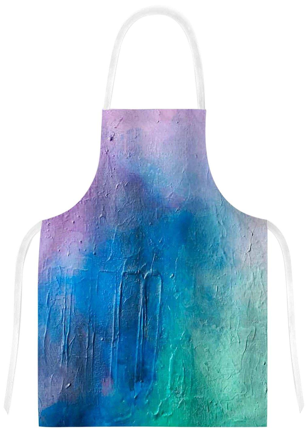 KESS InHouse GF2022AAR01 Geordanna FieldsClarity Pink Blue Painting Artistic Apron Multicolor 31 x 36