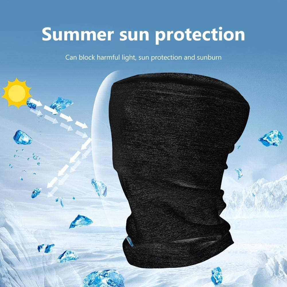 Ice Silk Face Cover Summer Scarf for Fishing Hiking Camping Outdoors Headwrap CPAing Cooling Neck Gaiter Balaclava Bandana Headwear