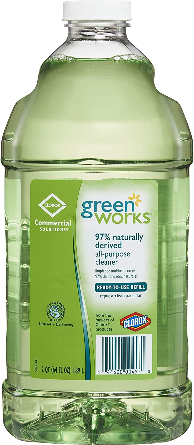 Green Works All Purpose Cleaner Refill, 64 Ounces (00457) best natural kitchen cleaning products