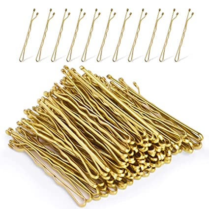 ScivoKaval Bobby Pins Bulk Champagne Gold for Blonde 300 Count Hair Bob Pins in