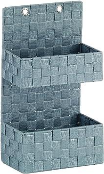 Plastik kela Wandkorb Alvaro 25x15x44.5cm aus Kunststoff in schwarz 44.5 x 25 x 15 cm
