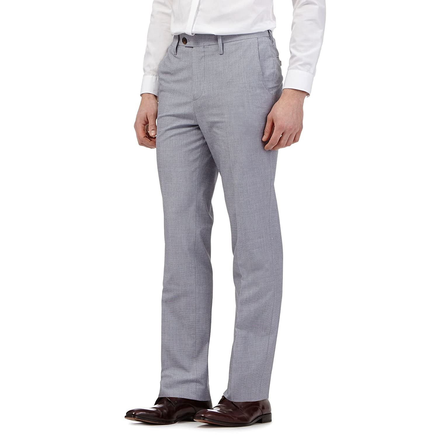 Hammond & Co. By Patrick Grant Mens Blue Pin Dot Trousers