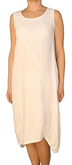 61acab4ac0e Perano 25022 Damen Leinen Kleid  Amazon.de  Bekleidung