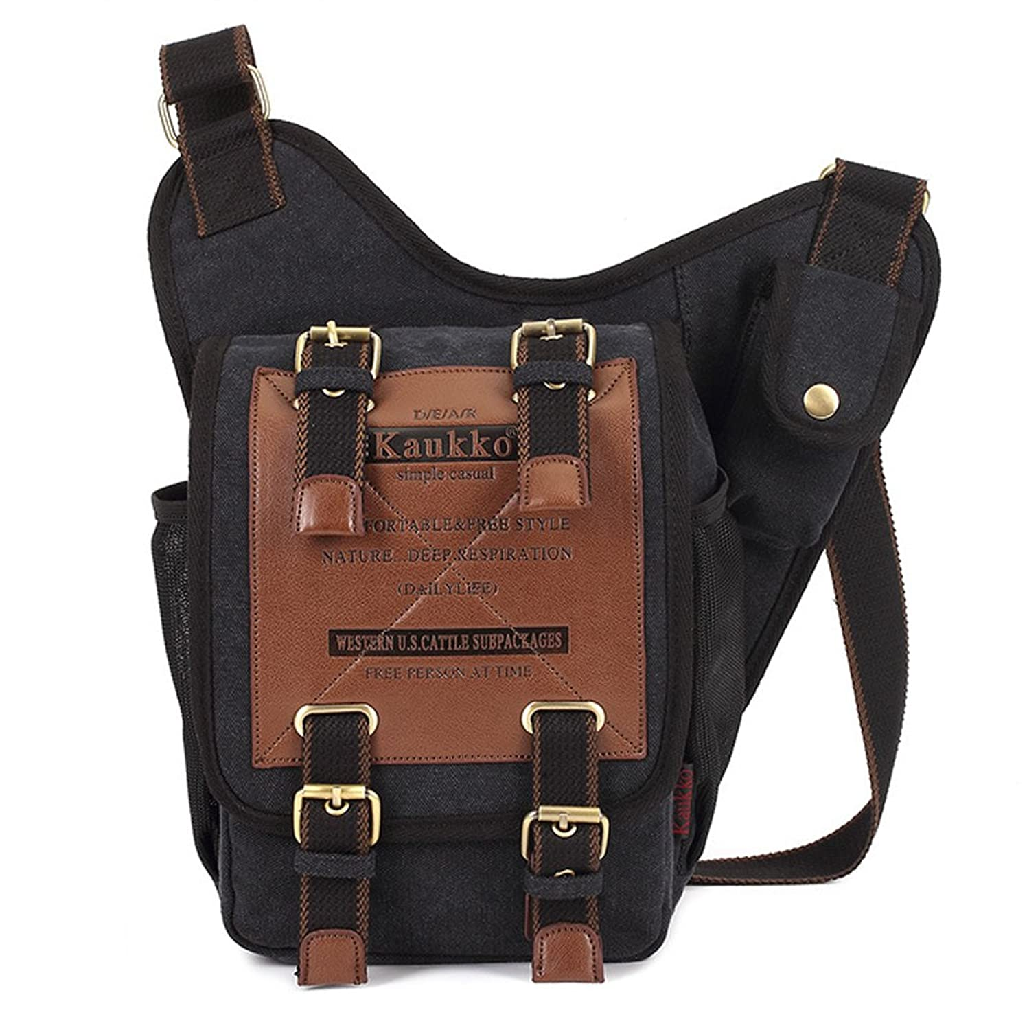 Keshi Canvas Cool College School Laptop Backpack -Straps Reinforced