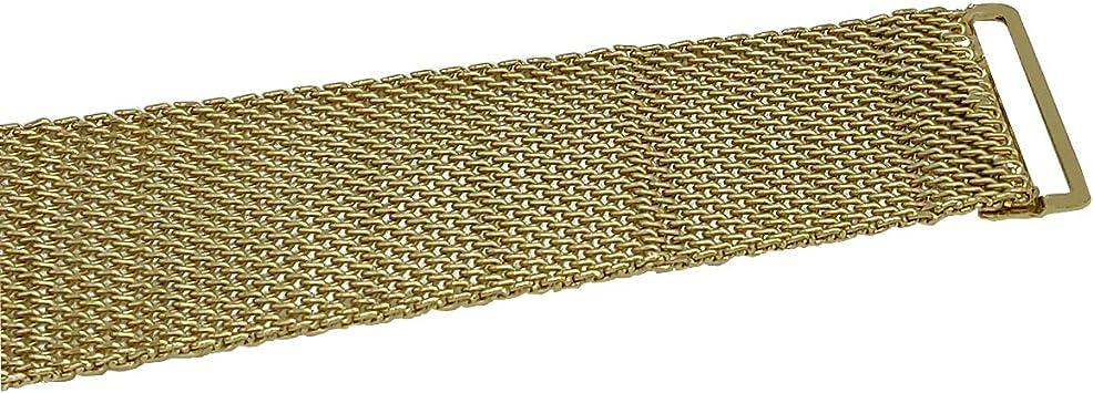 40 mm Cinturones Weddecor Extensor de Hebilla de Malla de Metal Dorado para Correas Pulseras Clips de Vestido