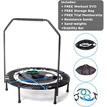 reliable MaXimus Pro Quarter Folding Rebounder Mini Trampoline Includes Compilation DVD with 4 workouts