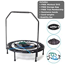MaXimus Pro Quarter Folding Rebounder Mini Trampoline Includes Compilation DVD with 4 workouts