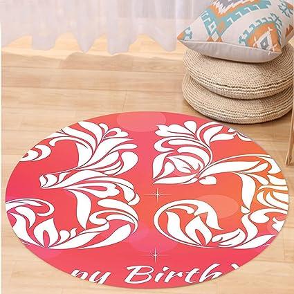 Amazon.com: VROSELV Custom carpet35th Birthday Decorations Feminine ...