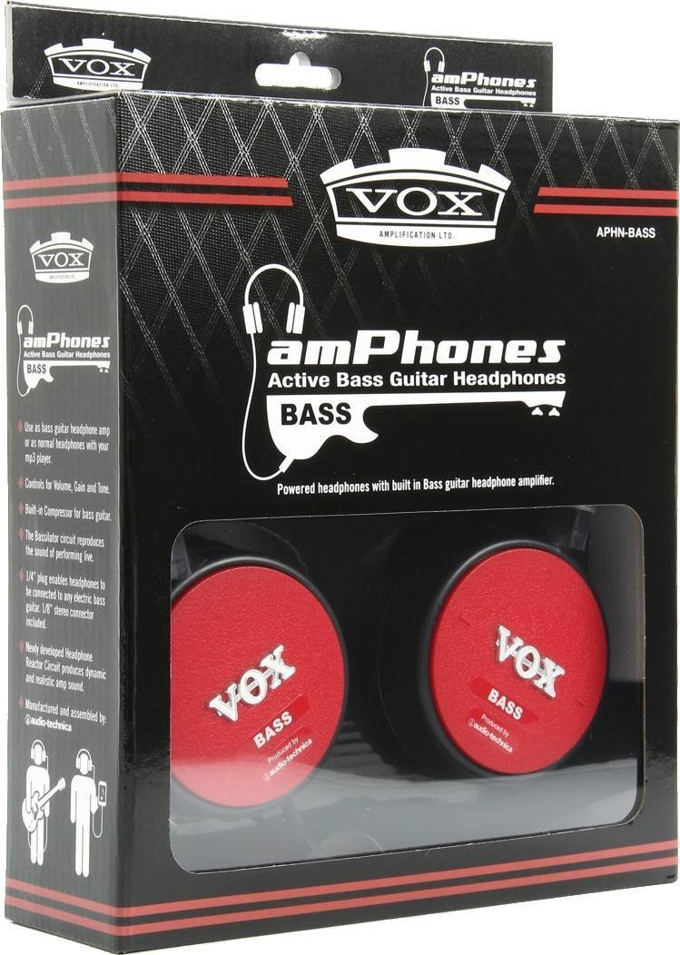 Vox Amphonesbass Active Amplifier Headphones Musical Guitar Headphone Amp Circuit Instruments