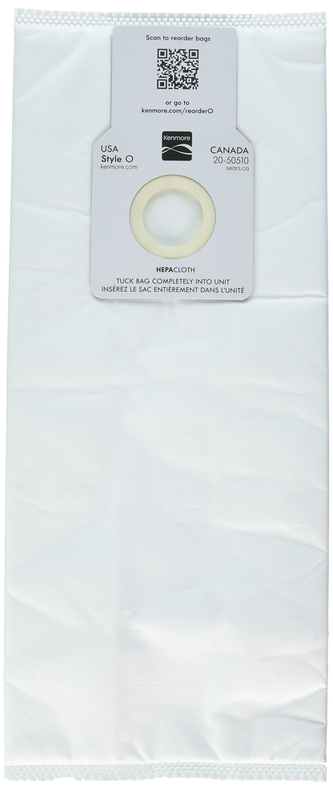 Kenmore 53294 6 Pack Type O HEPA Vacuum Bags for Upright Vacuums by Kenmore