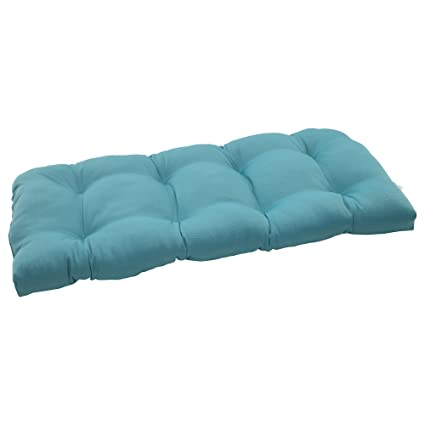 Amazoncom Pillow Perfect Outdoor Forsyth Wicker Loveseat Cushion