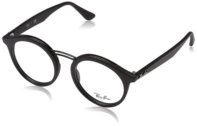 Amazon.com: anteojos Ray-Ban óptico Rx 7110 5640, Negro Mate ...