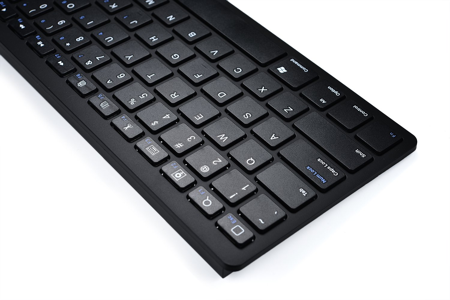 Universal 6-12'' Tablet Wireless Keyboard, COOPER B1 Wireless Bluetooth QWERTY Keyboard Tablet Smartphone Compact Portable Ultra Light Slim for iOS, Android, Windows & Mac (Black) by Cooper Cases (Image #3)