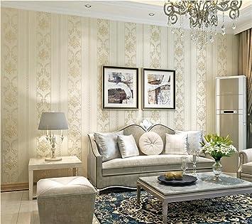 Hu0026M Tapete Einfache Geschnitzte Vertikale Gestreifte Vliestapete 3D  Abstraktes Stereoskopisches Schlafzimmer Wohnzimmer Fernsehhintergrund Wand