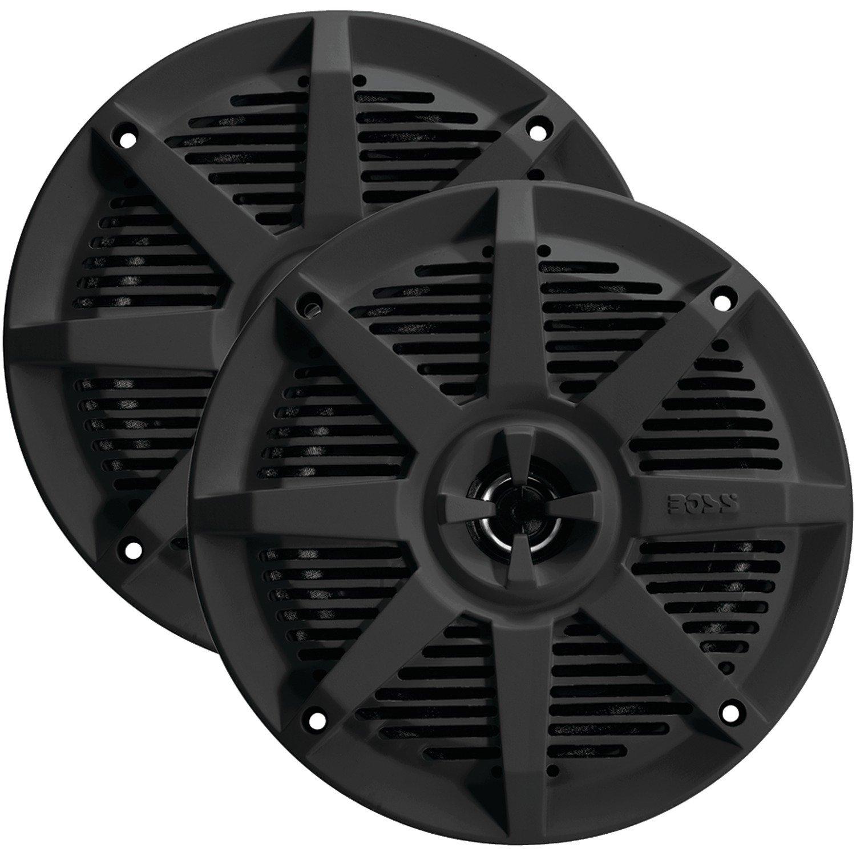 5.25, Black Boss Audio Systems MR52B 2-Way Full-Range Marine Speakers