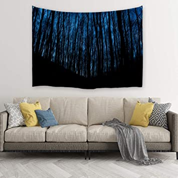 Procida Home Tapestry Wall Hanging Nature Art Polyester Fabric Starry Night Theme Wall Decor For Dorm Room Bedroom Living Room Nail Included 80