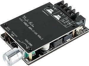 MakerHawk Bluetooth Amplifier Board HiFi Stereo 2.0 TPA3116D2 2X50W 5V Audio Amplifier Module Digital Power Amplifier Circuit Bluetooth 5.0 Dual Channel AMP