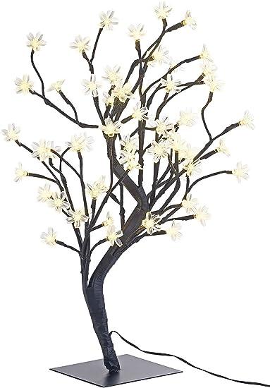 Lunartec LED Baum klein: LED Baum mit 64 beleuchteten Blüten